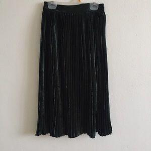 Forest Green Velvet Skirt